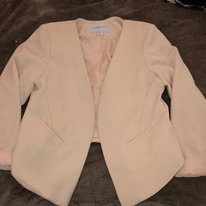Blush Pink Blazer Cropped